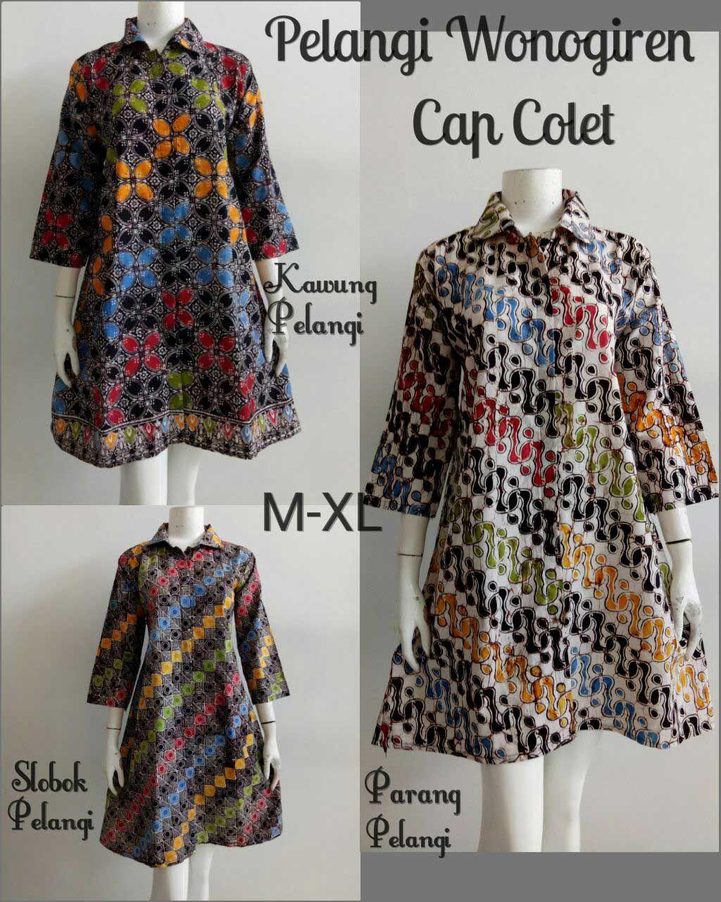 Baju Batik Wanita Modern Motif Wonogiren dengan motif yang klasik dan  elegan dengan model modern dan 40dda1f758