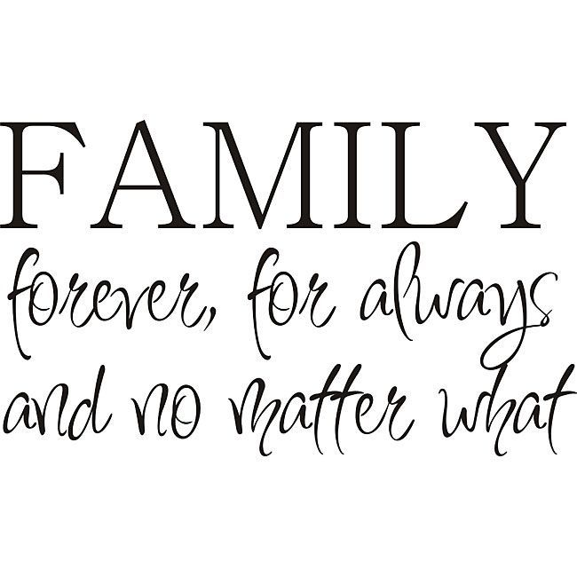Design on Style 'Family Forever' Vinyl Wall Art Quote | Overstock.com Shopping – The Best Deals on Wall Decals
