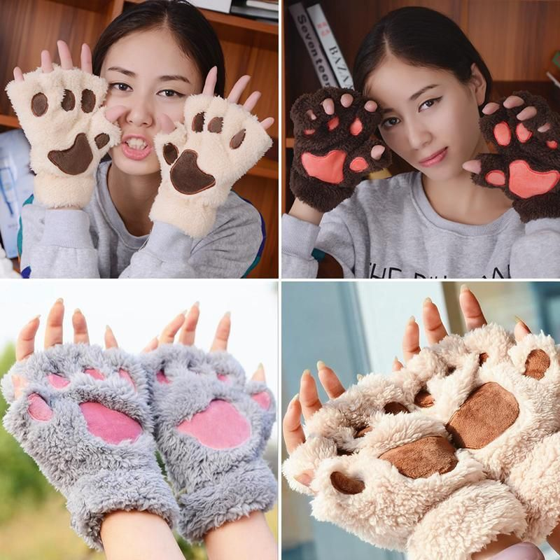 Fluffy Animal Paw Gloves Fluffy animals, Fingers design