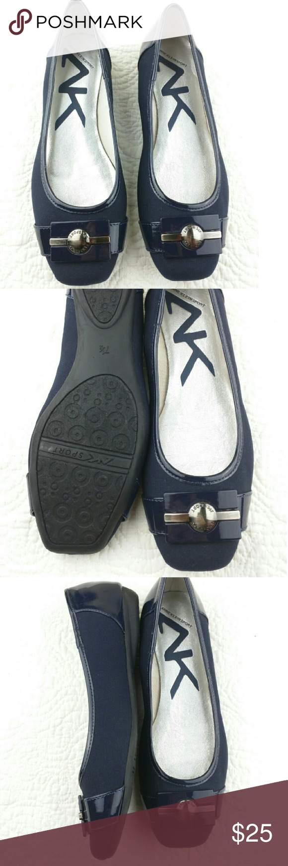 Anne Klein sports flat shoes DARK BLUE Like new,only used for one time very comfortable and clean. Anne Klein Shoes Flats & Loafers
