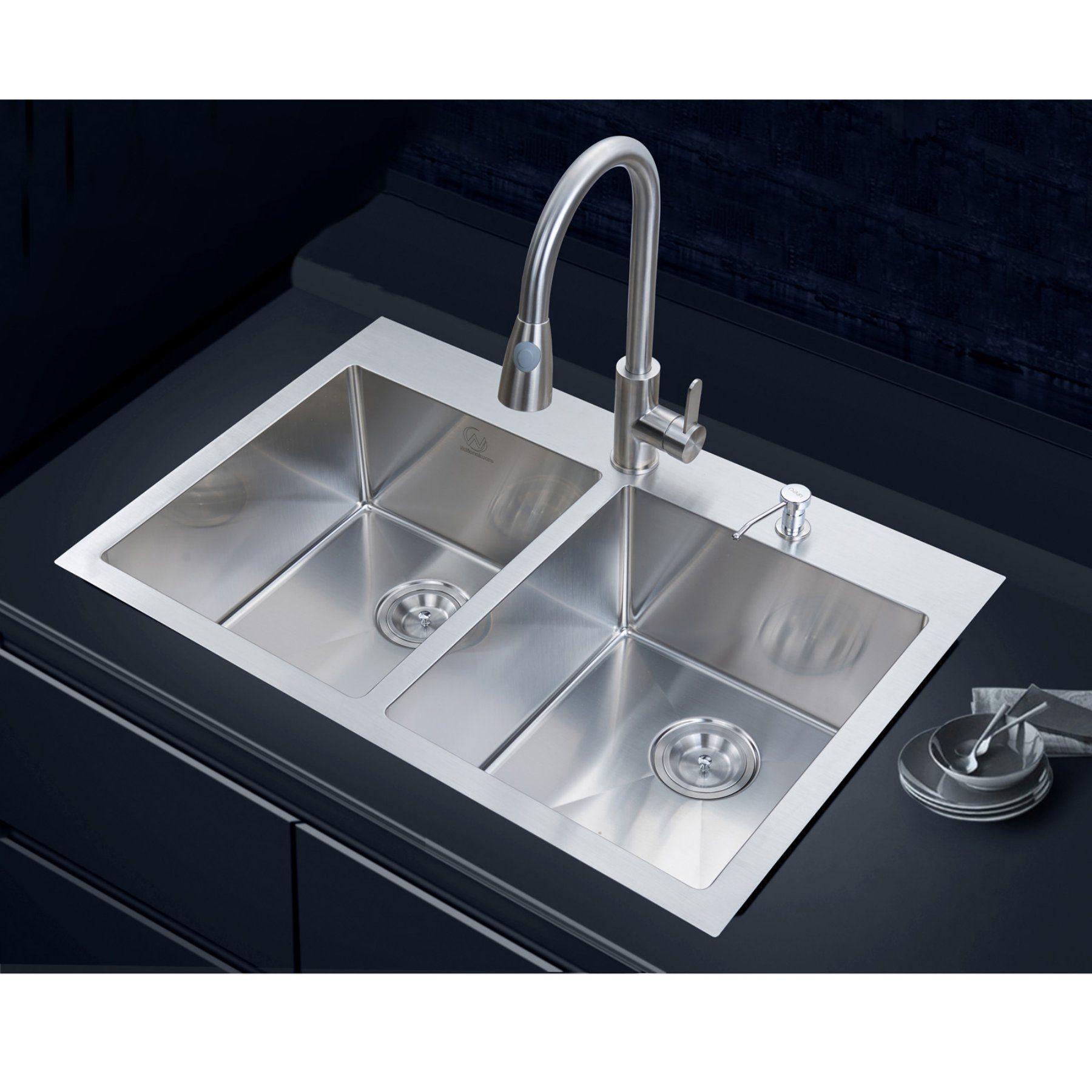 Stufurhome Nw 3322do Double Basin Overmount Kitchen Sink