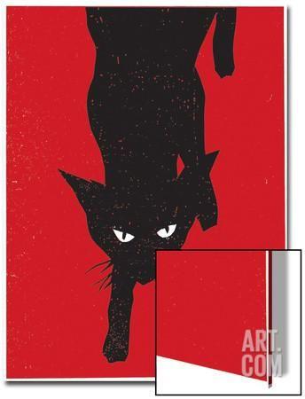 Black Cat 1 Art on Acrylic by Print Mafia at Art.com