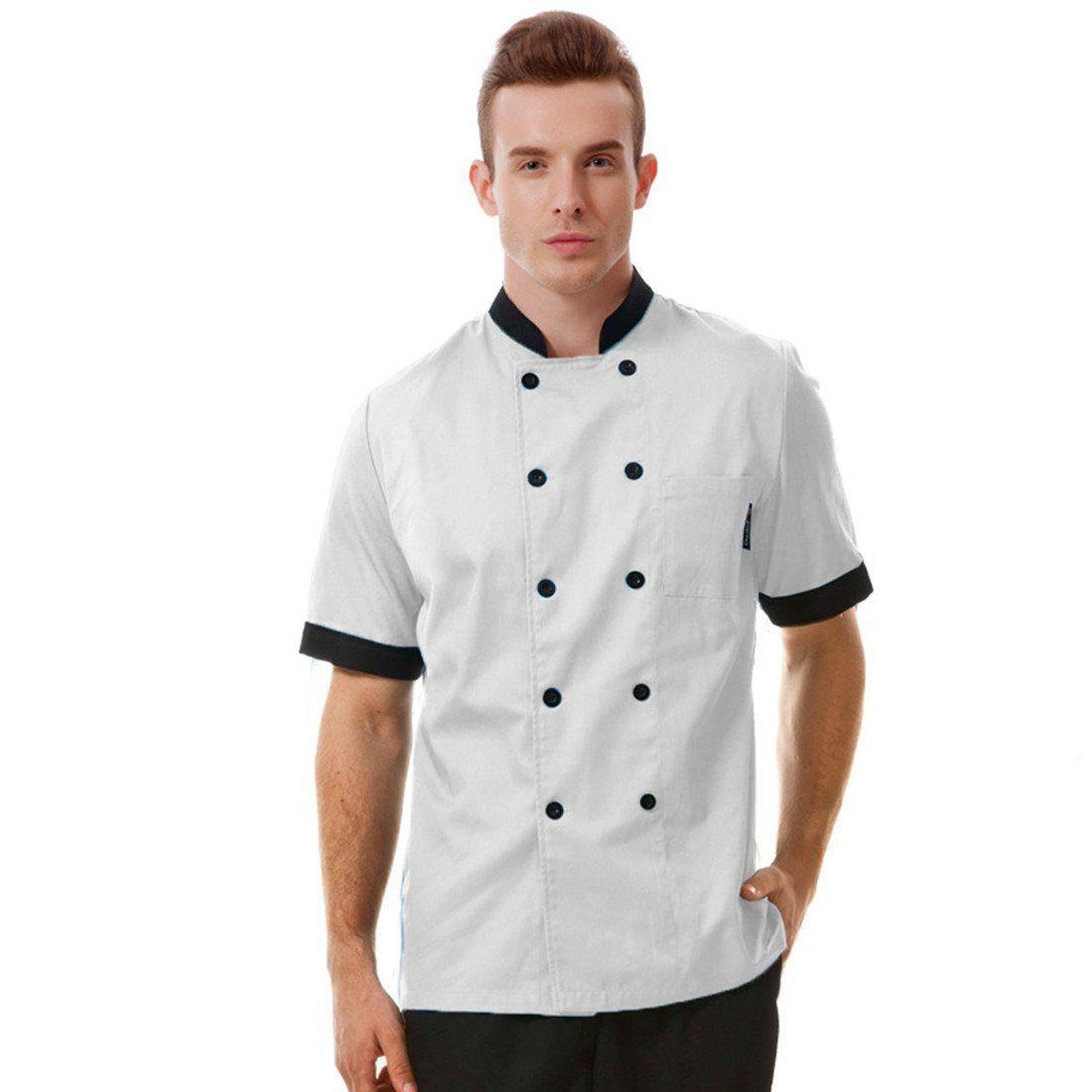 Long Sleeve Classic Kitchen Cook Chef Waiter Waitress Coat Uniform Jacket Black Bright In Colour Uniforms & Aprons Business & Industrial