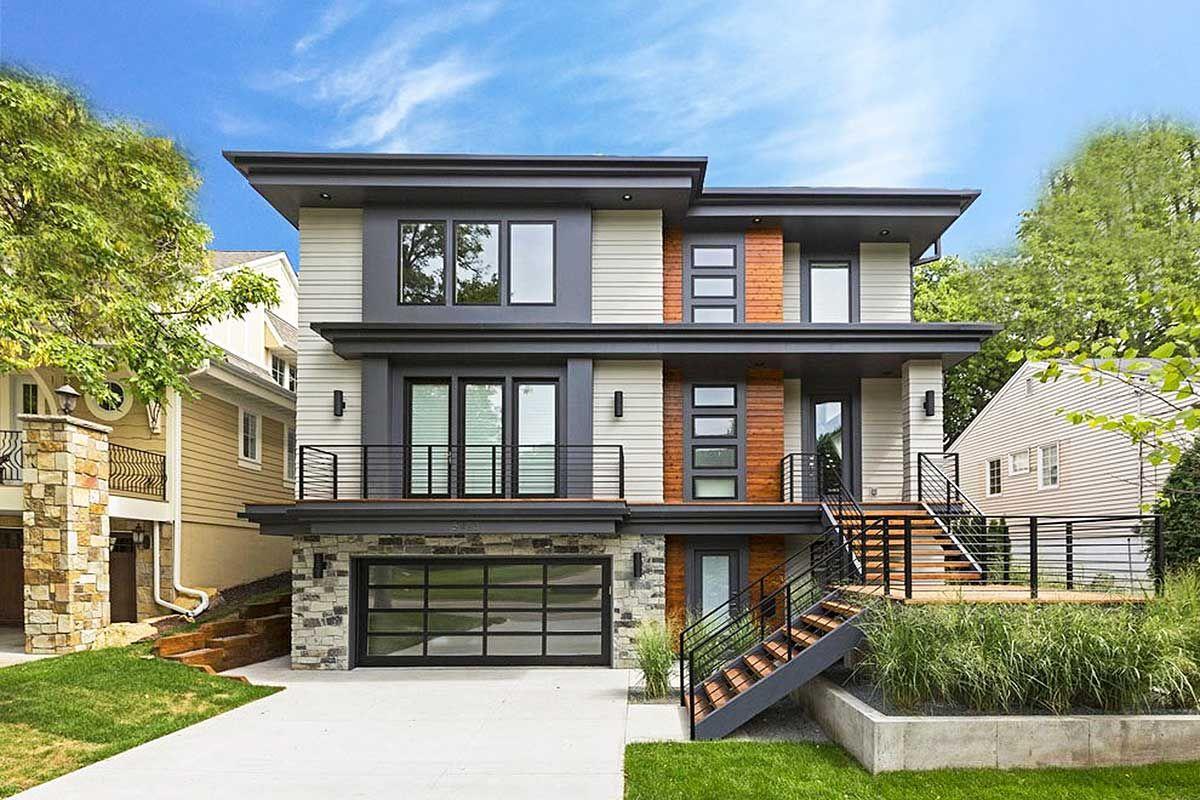 Plan 14633RK MasterOnMain Modern House Plan Sloping