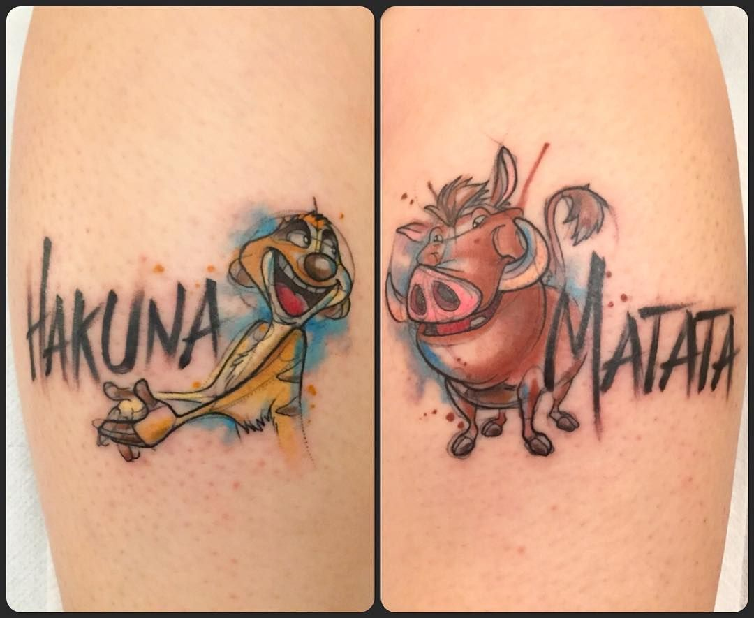 Phrase d amiti tatouage fashion designs - Tatouage hakuna matata ...