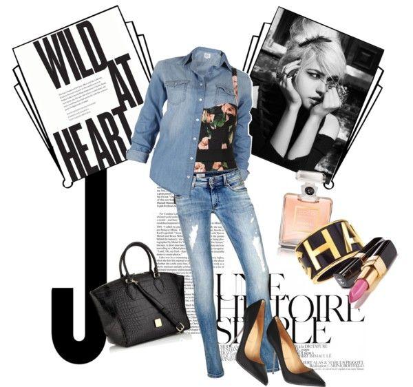 """sexy jeans No1"" by thalia-kallia ❤ liked on Polyvore"