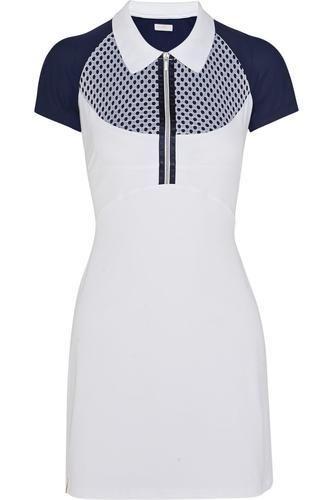 Mesh-paneled stretch-jersey dress #dress #offduty #women #covetme #monreallondon