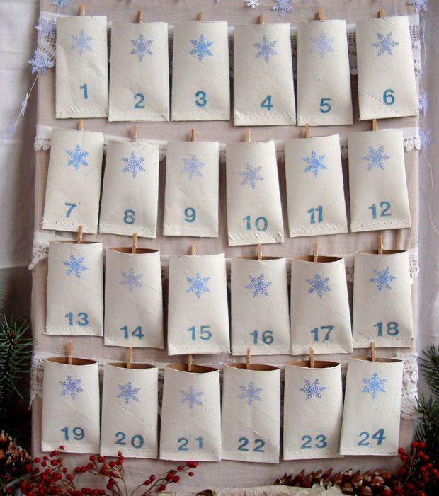 calendrier de l 39 avent 2015 10 calendriers faire soi m me rouleaux de papier toilette. Black Bedroom Furniture Sets. Home Design Ideas