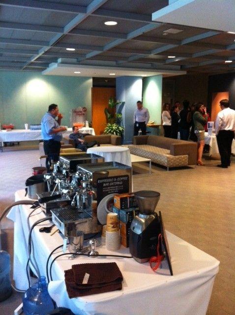 #Barista View Of #Espresso Bar Set Up At The CIBC Head Office At