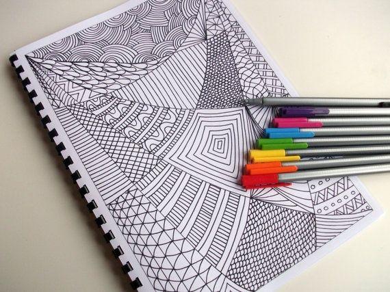 Zentangle Pattern Ideas | Coloring Book, Zentangle Inspired Printable, Mother's ... | Zentangles