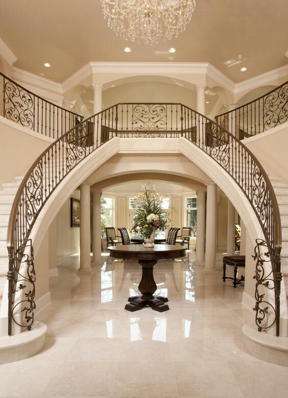 Love this entry way and staircase   House entrance ...
