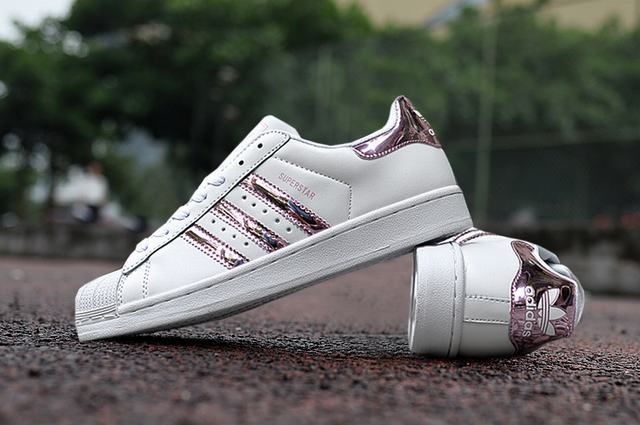 Ladies Adidas Superstar 3d White Stripe Pink Sneakers Vans E