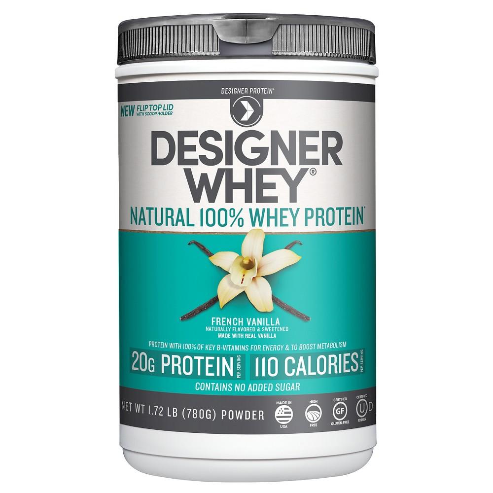 Designer whey 100 premium whey protein powder vanilla