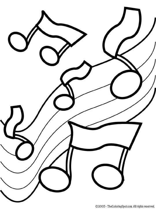 coloring pages music Music Coloring Pages | Music Notes 2 | Free printable coloring  coloring pages music