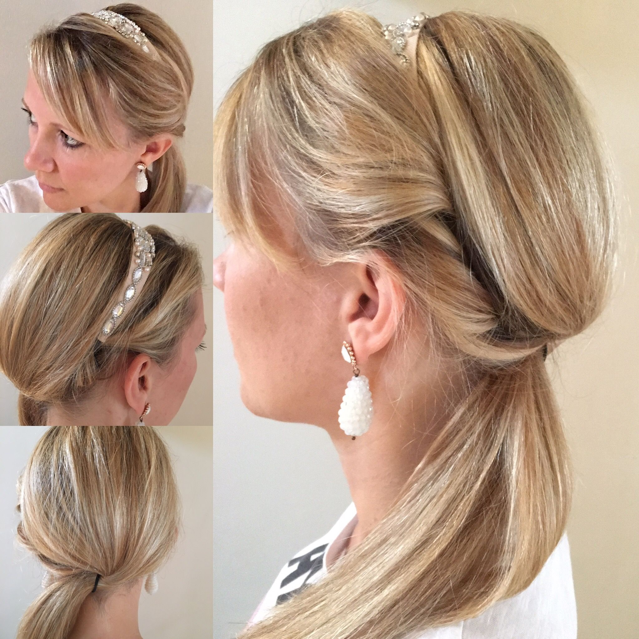 Twisted Hairband Hairstyle No Pins Needed Ouraband Ponytail