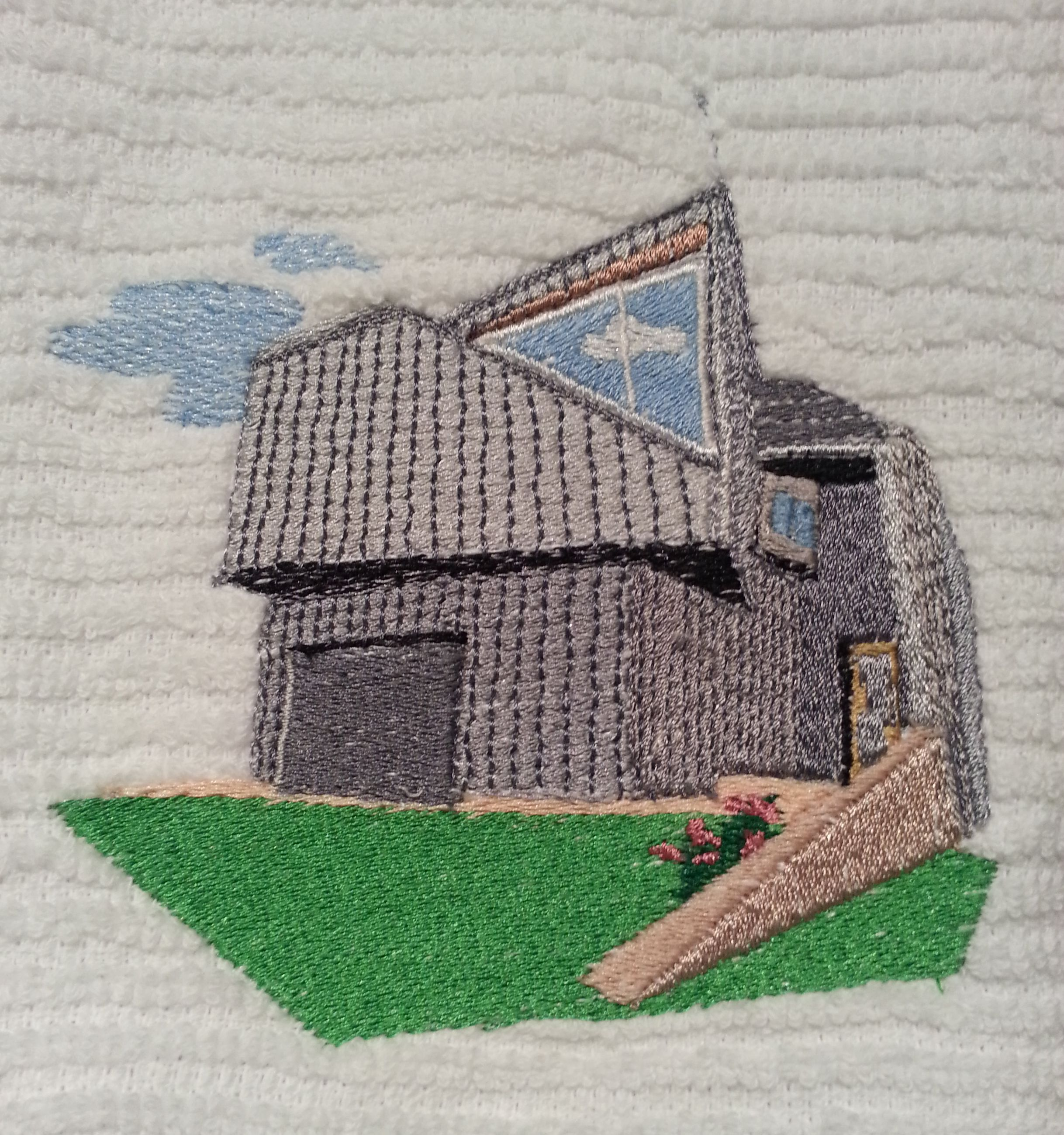 Metalhouse 2, embroidered! Thanks, Loraine.  www.haragraph.com