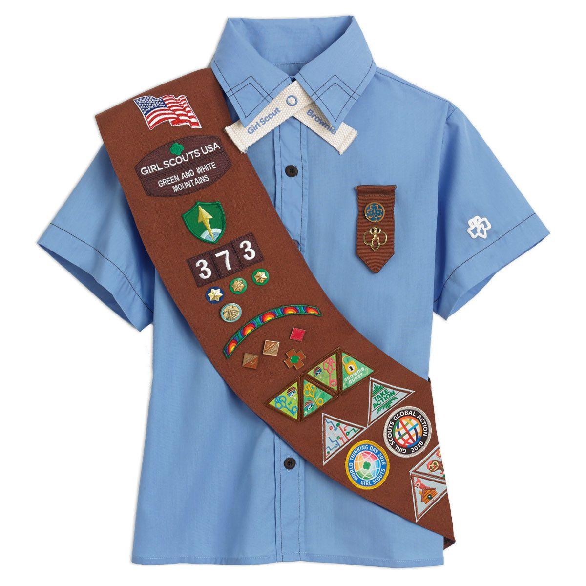 EXTRA LONG Brownies Uniform New Sash and Badge Brownie
