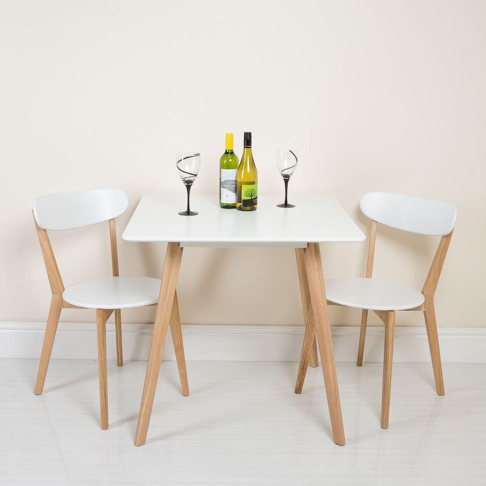 New White Scandinavian Retro Furniture Dining Table Chair Set ...