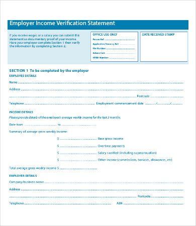 10+ Employment Verification Forms Word, Excel  PDF Templates - employment verification form