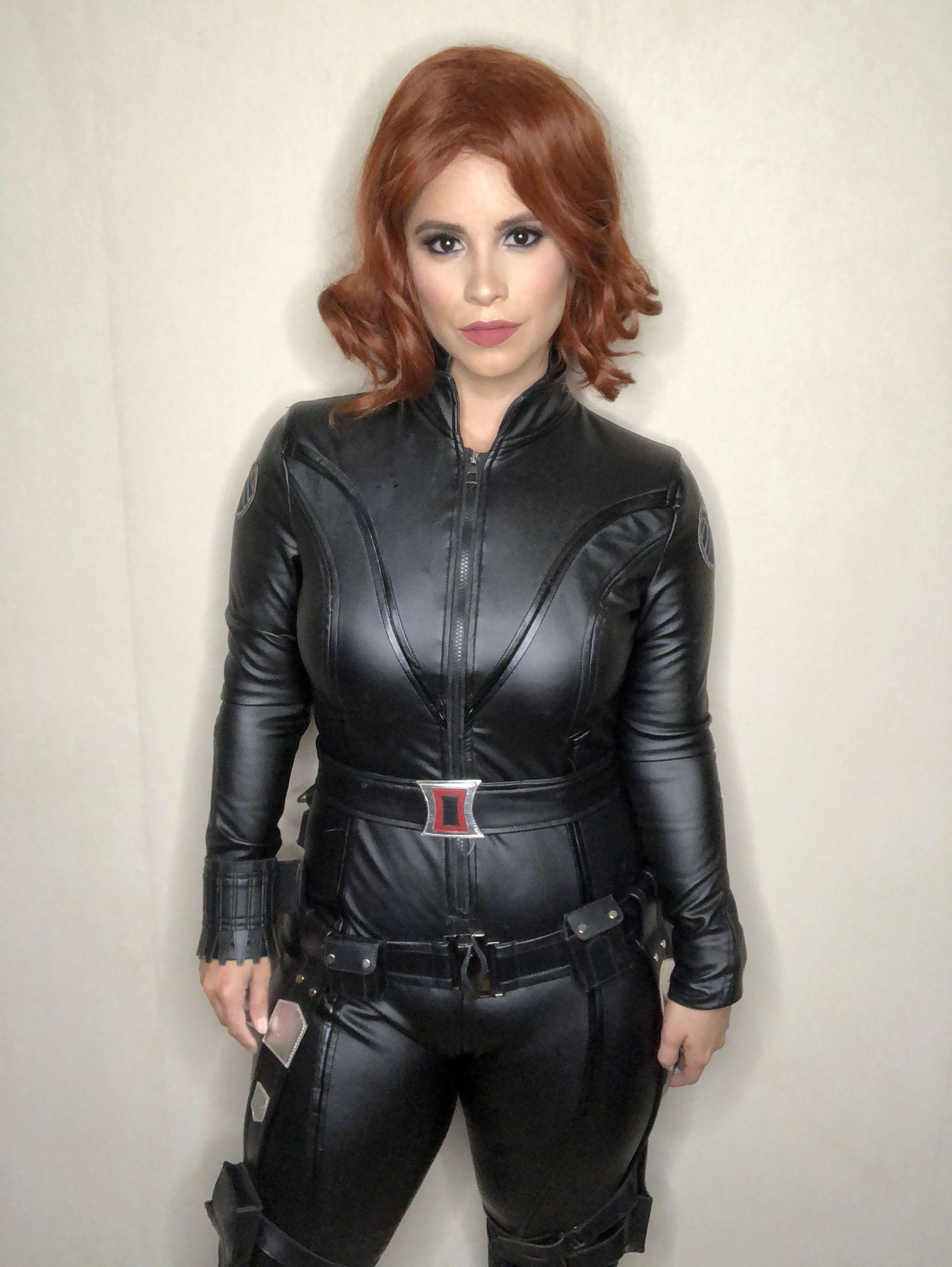Black widow costume black widow costume leather jacket
