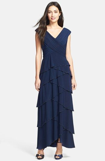 9ad4319a05a Patra Beaded Artichoke Tier Matte Jersey Gown available at  Nordstrom