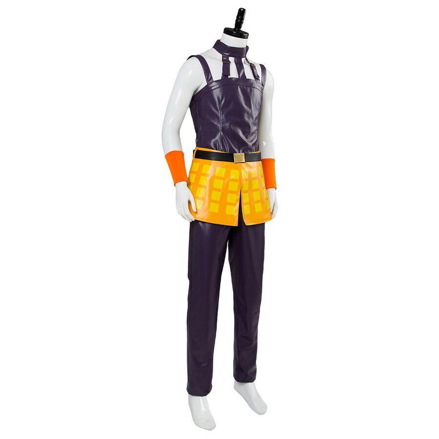 JOJO/'s Bizarre Adventure Golden Wind Ghirga Narancia Cosplay Costume Uniform Set