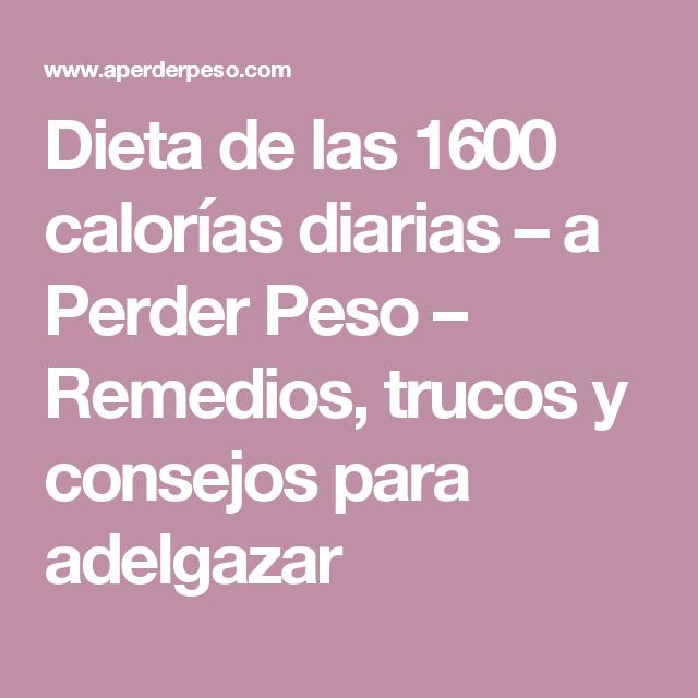 Dieta para 1600 calorias diarias