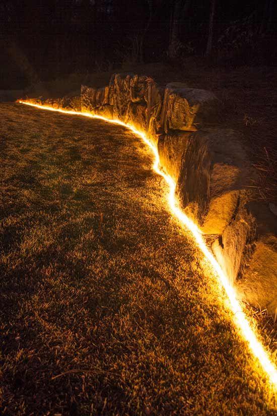 The Secret Life Of Rope Light Diy Outdoor Lighting Landscape