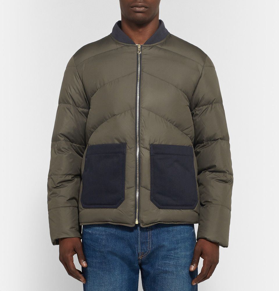 The Workers Club Reversible Quilted Shell Down Bomber Jacket Men S Coats And Jackets Jackets Mens Jackets [ 1002 x 960 Pixel ]