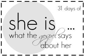find out who she is …#31days #sheis31days