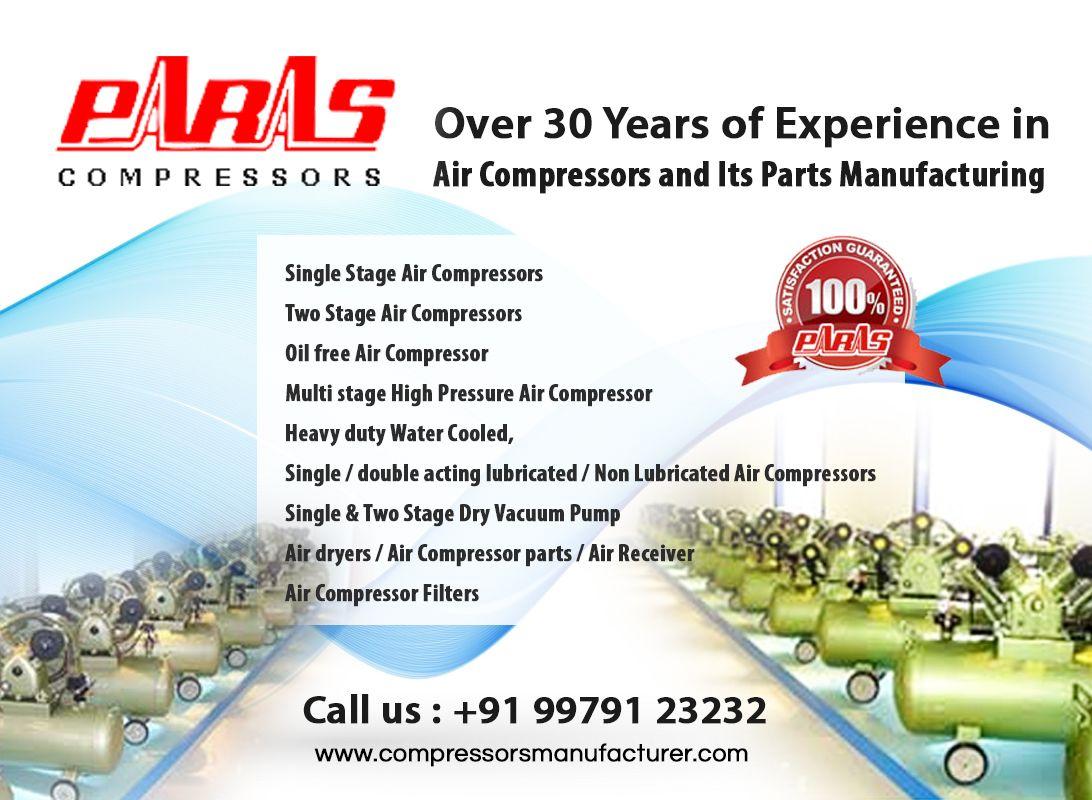 Trust the best Air Compressors Manufacturer in India. We