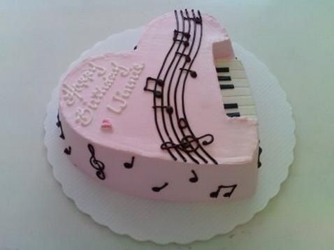 Music Birthday Cakes Music cakes Musical Cake Ideas Pinterest