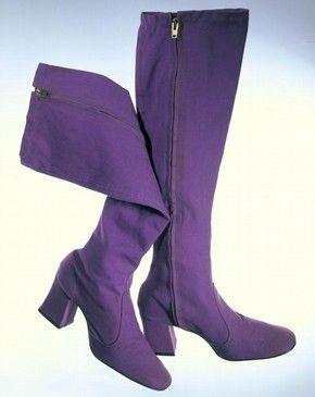 Fabulous vintage purple suede boots, B. Hulanicki, 1969 70