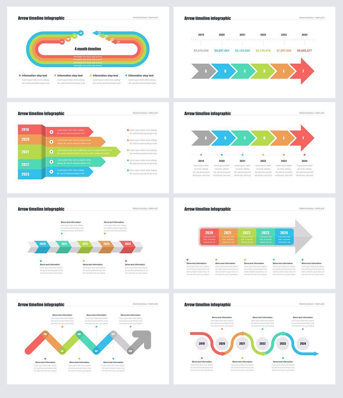 Timeline Arrows Templates Keynote Sponsored Keynote Support