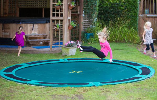 Garden Design With Trampoline top tips for digging a trampoline into the ground | capital play