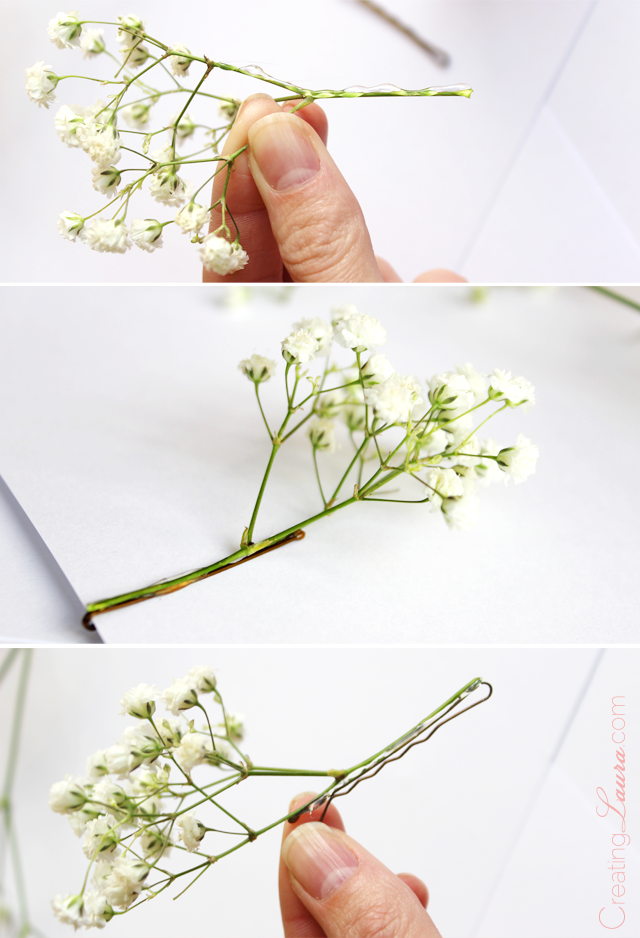be8e89620b045 Making my own fresh floral hair piece. Creating Laura: An easy floral DIY  with big impact