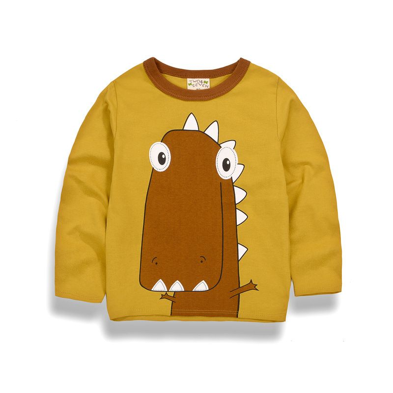 Lion Childrens Long Sleeve T-Shirt Boys Cotton Tee Tops