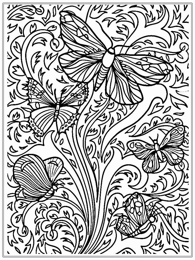 coloring page of butterflies for adults coloring pages
