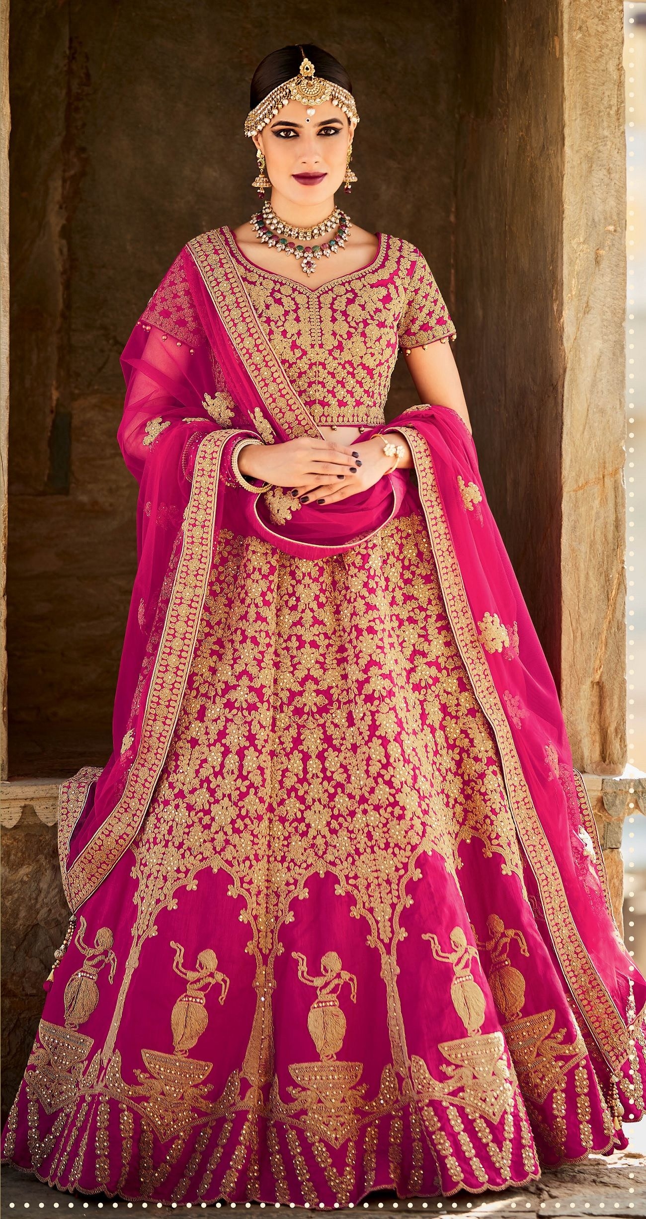 7922c8882dab Buy Rani color silk bridal lehenga choli in UK, USA and Canada in ...