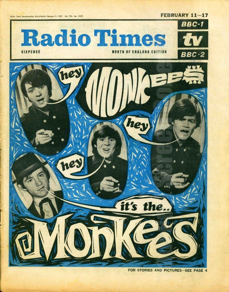 Monkees Radio Time cover, 1967 The monkees, Radio times