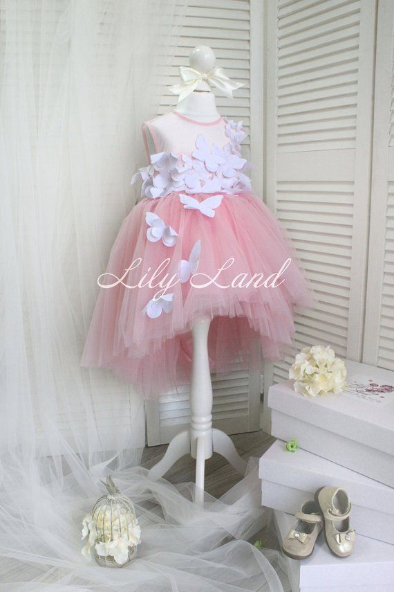 cced82fc29 Fashion Sneakers For Toddlers. Pink Flower Girl Dress with Special  Butterfly tutu dress for baby Pink Wedding Princess Dress Infant