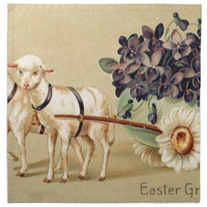 Victorian retro vintage easter greetings napkin retro kitchen victorian retro vintage easter greetings napkin retro kitchen gifts vintage custom diy cyo personalize negle Choice Image