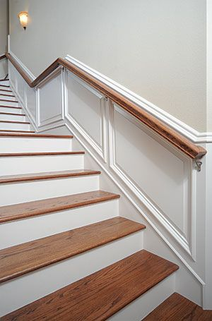 How To Take Wainscot Up Stairs With Hand Rail Wainscoting Stairs Wainscoting Styles Wainscoting Kitchen