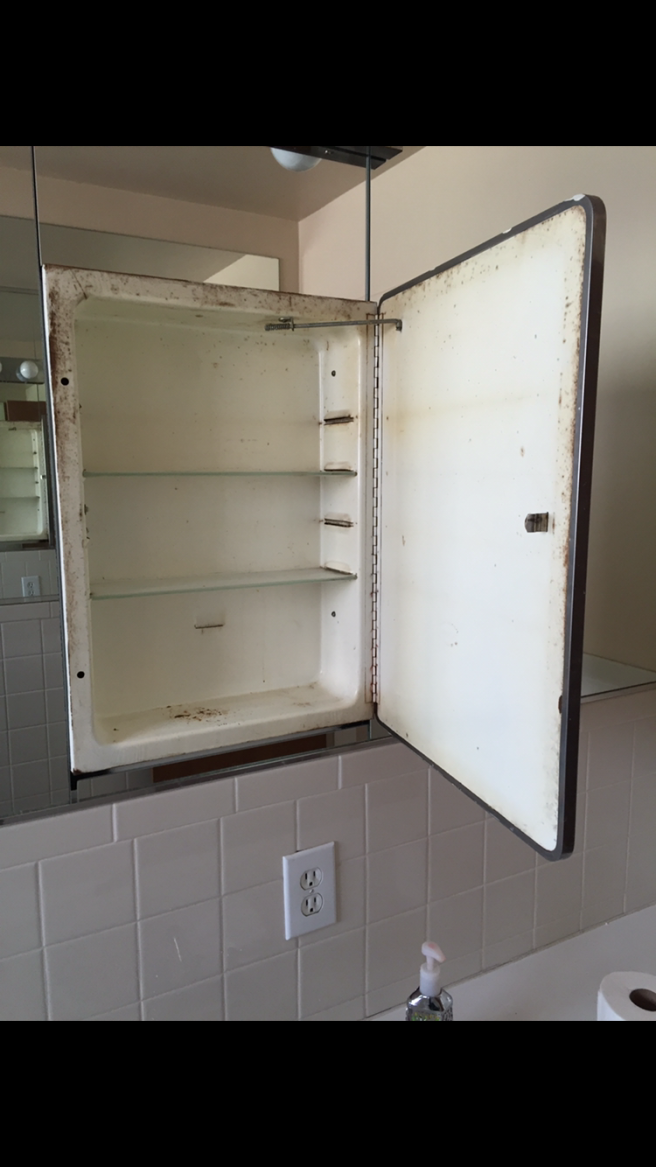 How to Restore a Metal Medicine Cabinet - Before and After ...