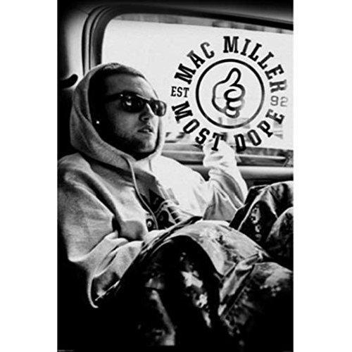 Mac Miller Poster Hip Hop Blue Slide Park Pittsburg Producer Never Been Hung!