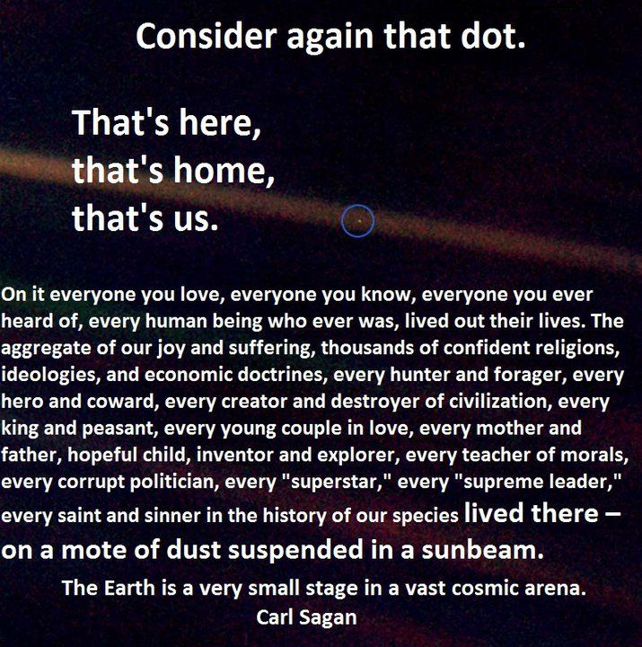 Carl Sagan Love Quote: That's Us, That's Home.