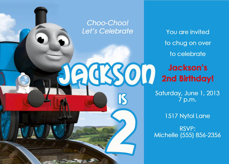 Thomas the Train Birthday Party Invitation by CBDesignCollection ...