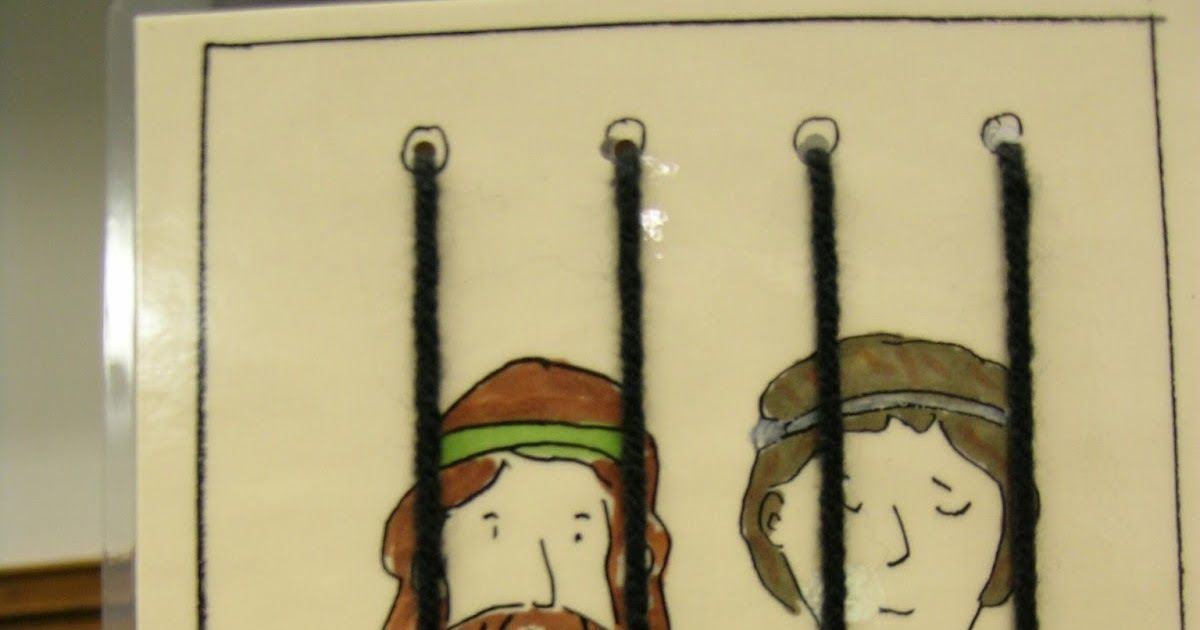 Paul And Silas In Prison Acts 1616 40 This Is A Sample I Made Of A