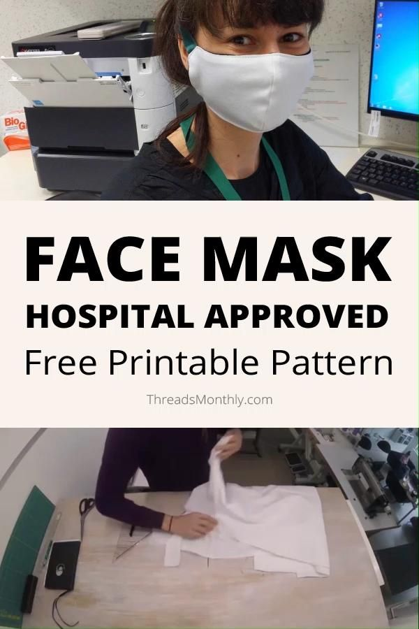 Photo of Face Mask Pattern with Ties + Free Printable (Fitted Olson Style)
