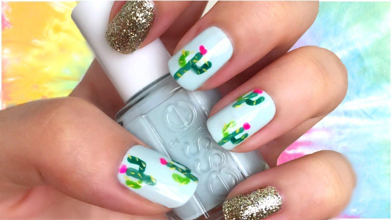 Cactus Print Nail Art Tumblr Nails Coachella Festival Nail Art Ideas Diy Nails Manicure Mexican Nails